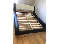 Italian Designer Faux Leather Bed Frame (Double)
