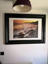 Framed image of Rhoose Point beach