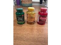 Supplements! Zinc, e-1000 and omega 3