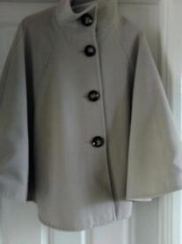 Beige cape style coat - size 12