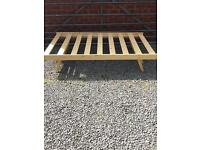 Single Bed solid pine trundle