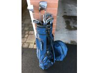 Golf bag & clubs - ideal for someone starting out!