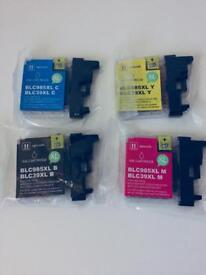 Set of 4 Brother Inkjet Printer inks