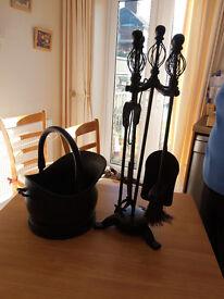 Coal Bucket and Companion Set