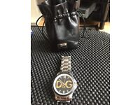AS NEW LARGE D&G WATCH WITH POUCH