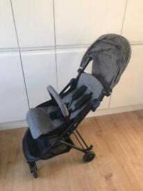 Babystart 1 hand fold travel pushchair pram buggy
