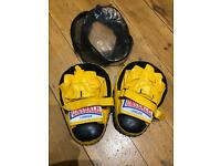 New Lonsdale yellow boxing pads
