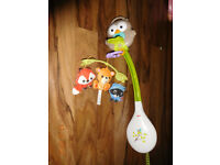 Calming Baby Toy for Cot Hanging CAROUSEL MOBILE MUSICAL Toy With Plush Dolls