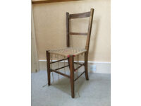 Oak chair with cord seat