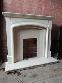 Complete fire surround hearth marble