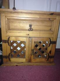 Mexican Solid Pine Wood Cabinet