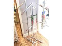 4 way clothes merchandiser stand - Stainless steel