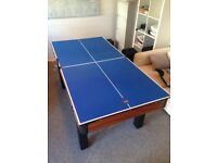 2-in-1 Combined Pool / Snooker and Table Tennis Table