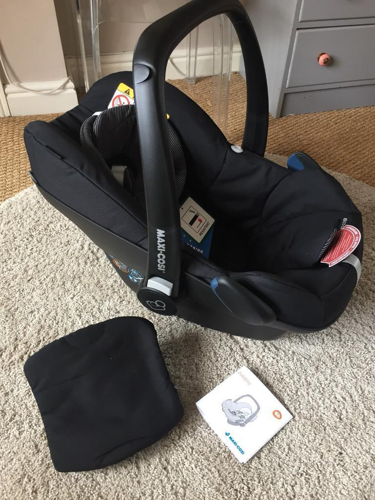 Maxi-Cosi Pebble baby car seat Grp0+ in Black Raven 2017 A Graded