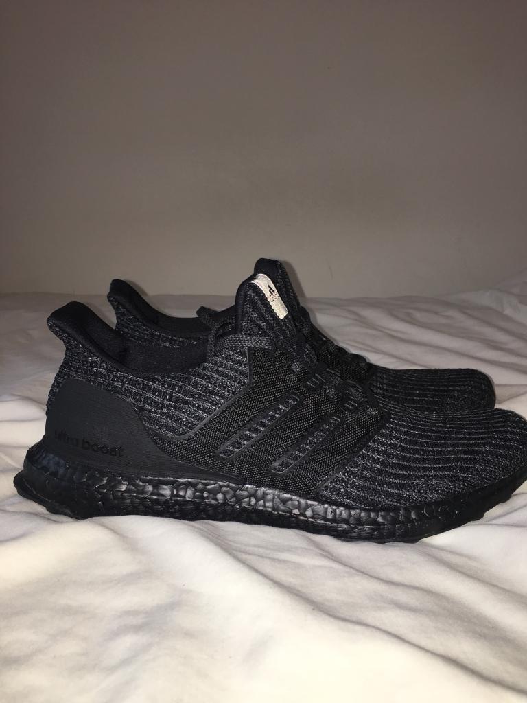 46db878aea5f4 Adidas Ultra Boost 4.0 Triple Black Size 11  New