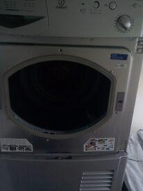 silver indesit condenser dryer 7kg load free local delivery allelectricals