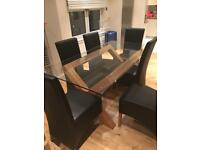 Contemporary Glass Dining Table & Chairs