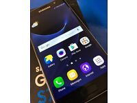 Samsung Galaxy S7 Black Onyx in Excellent condition on o2 network with box and receipt 32gb