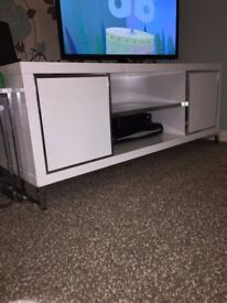 White TV Unit- GREAT CONDITION!