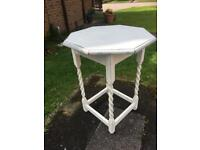 LOVELY VINTAGE HEXAGONAL BARLEY TWIST HALL/CONSOLE TABLE - CAN DELIVER
