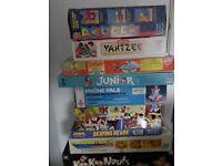 Board games, vintage games, scrabble mouse hunt hannah montana dennis the menace etc