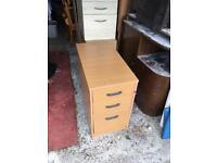 Office pine wood filing cabinet desk drawers storage