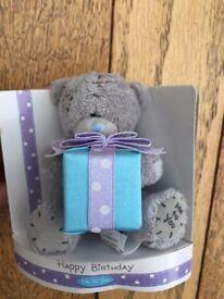 "Brand new, Me to You Bear Teddy, Tatty Teddy, holding present, 3"""