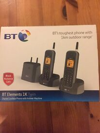 BT elements 1k twins -1km range cordless phones