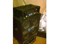bass amp head and bass cab
