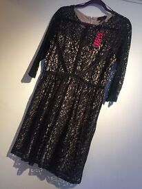BNWT GEMMA COLLINS SIMPLY BE SEXY LACE SKATER PARTY DRESS SIZE 16
