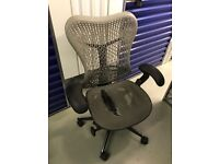 4 x damaged Herman Miller Mirra chairs