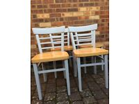 4 Refurbished dining room chairs