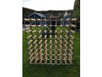 large wood and metal winerack
