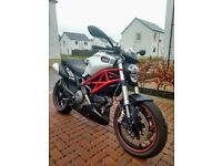 Ducati Monster 796, ABS, 2011, WHITE, 10500 MILES