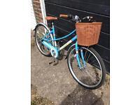 Ladies low step town bike with basket