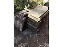 Free to collect - 28 patio slabs