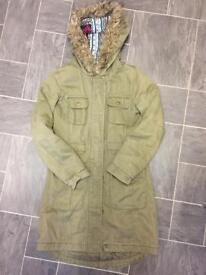 Girls trendy parka coat from new look age 9