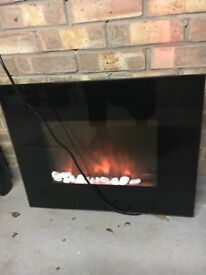 Wall mount electric fire
