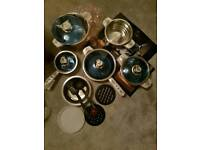 XMAS GIFT? 16pc Full Cookware Kitchen Set - Pots and Pans - brand new in box