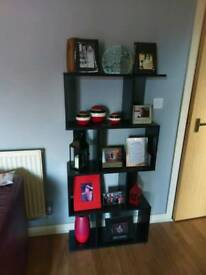 Black 4 tier book case