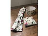 Cath Kidston Cowboy ceiling lamp shade, blackout blind & pillow - All worth £300