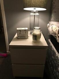 Ikea malm white bedside table