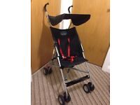 Babystart pram with sun canopy and raincover.