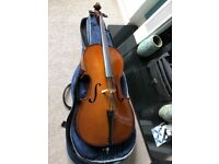 1/2 size cello stentor student I with bow and carry case