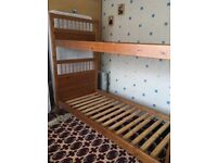 Bunk Bed lovely colour with ladder and barrier pieces for both beds