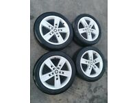 """Genuine 17"""" Seat Leon FR Dynamic Alloy Wheels & Tyres 5x112 *Immaculate!*"""