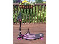 Girls Pink & black Razor Electric E90 Scooter