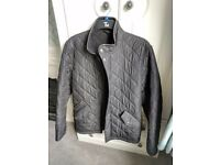 Barbour Quilted Jacket Mens Black Coat Small