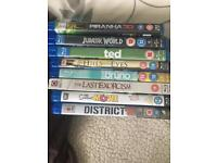 Blu ray movies in bundle of 8