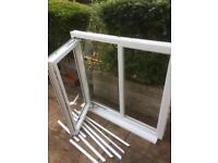 White Upvc window double glazed unit